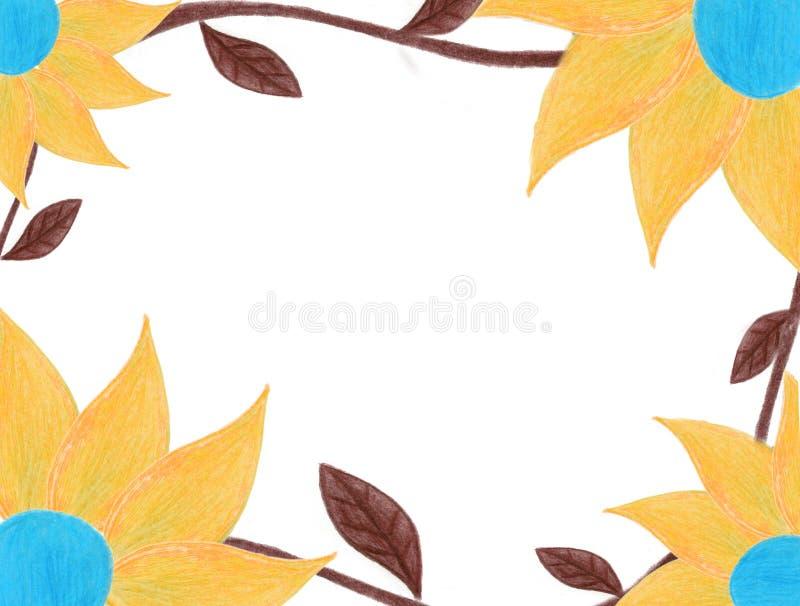 Trame de fleur d'automne images stock