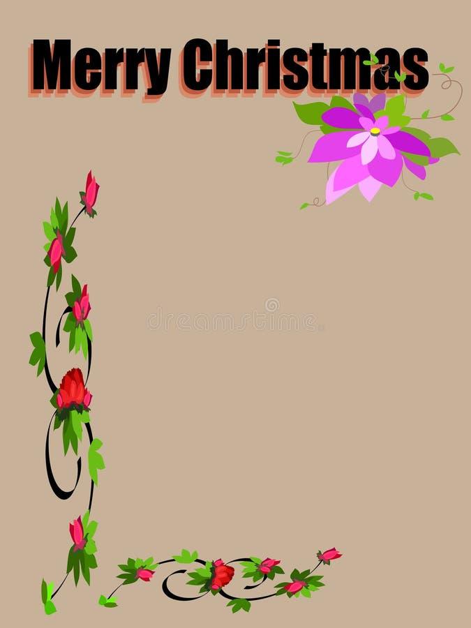 trame de fleur de Noël joyeuse illustration stock