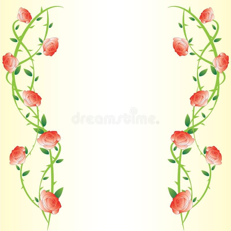 Trame de fond de Rose de gradient illustration stock