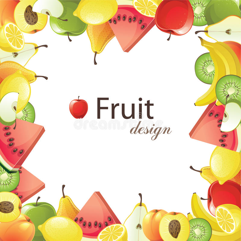 Trame de fruits illustration de vecteur