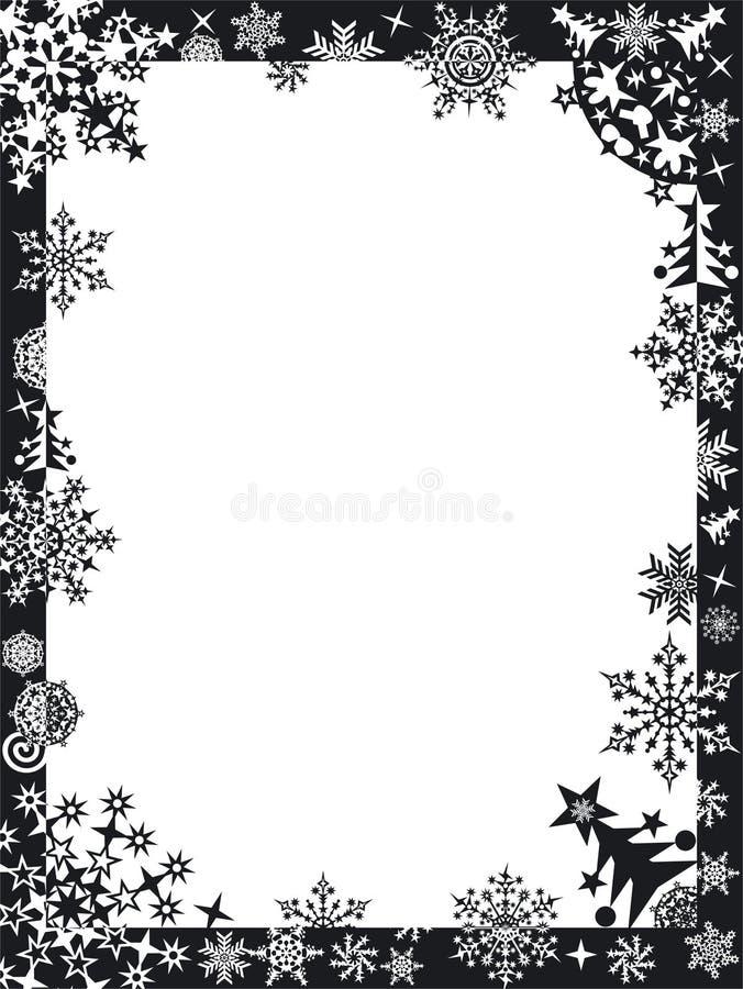 Trame de l'hiver avec des flocons de neige illustration libre de droits