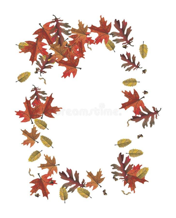 Trame de lame d'automne illustration de vecteur
