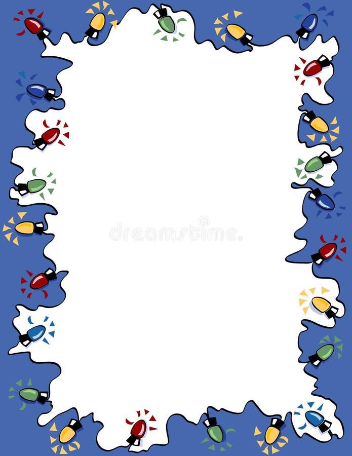 Trame de lumières de Noël illustration libre de droits