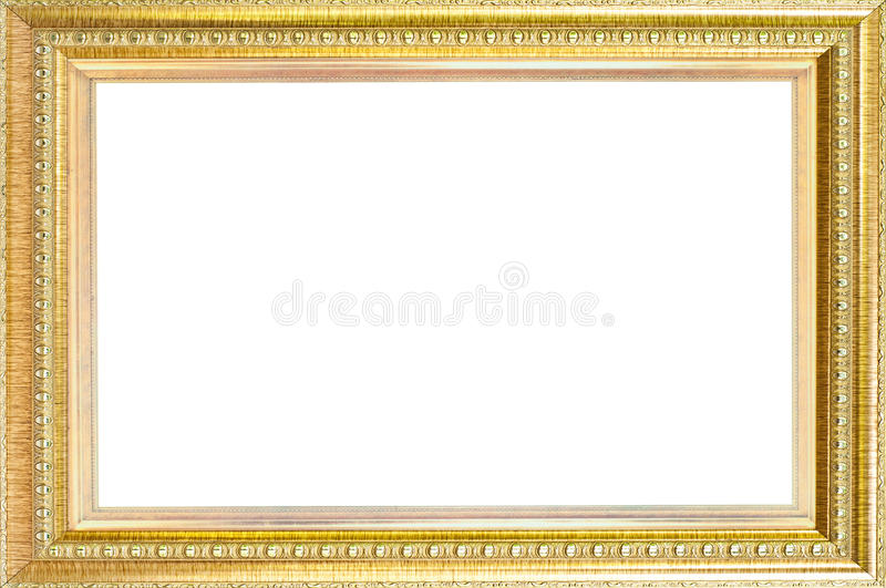 Trame de luxe d'or d'isolement. images stock