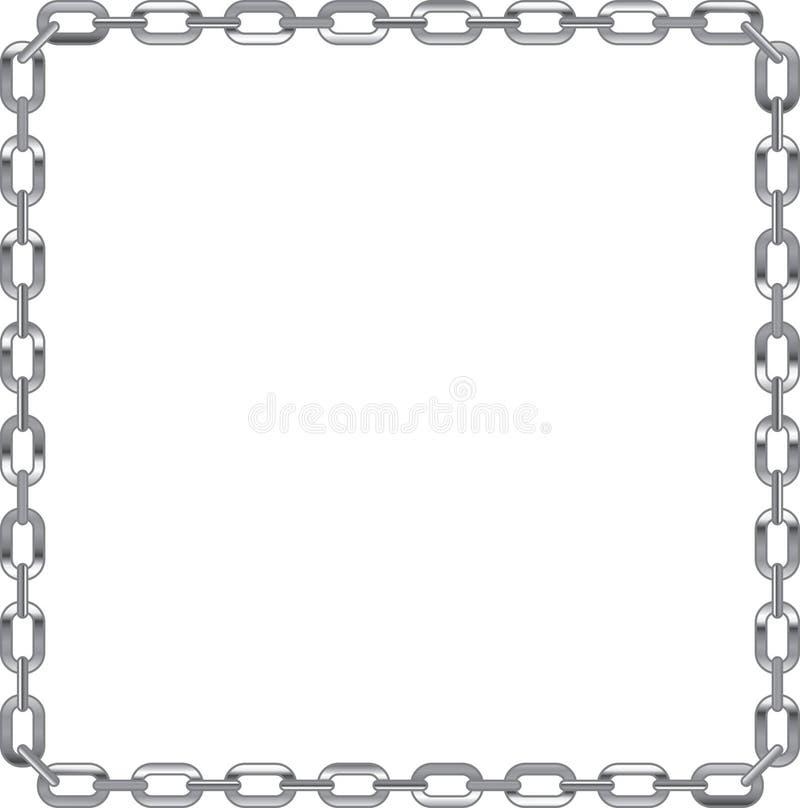 Trame de maillon de chaîne sur le fond blanc illustration libre de droits