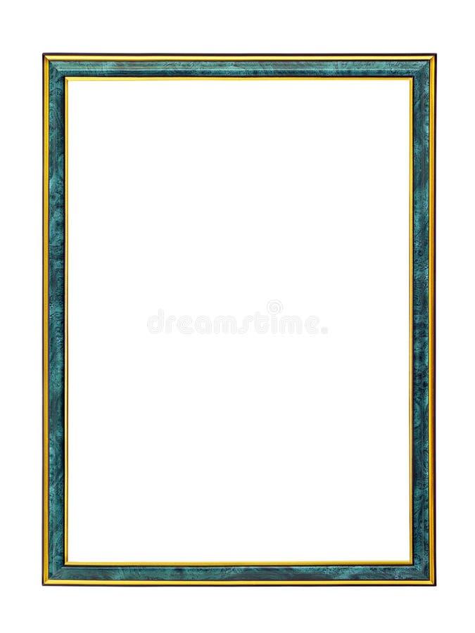 Trame de malachite avec la garniture d'or pour une illustration photographie stock libre de droits
