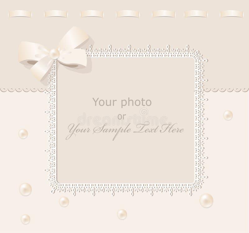 Trame de mariage de salutation de vecteur pour la photo illustration libre de droits
