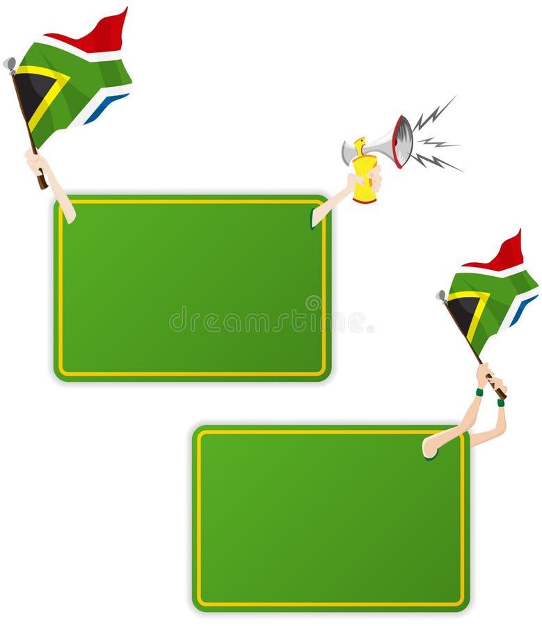 Trame de message de sport de l'Afrique du Sud avec l'indicateur. illustration de vecteur