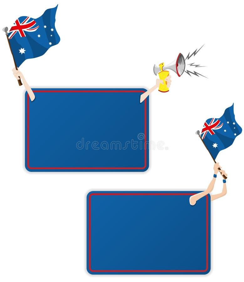 Trame de message de sport de l'Australie avec l'indicateur. illustration libre de droits