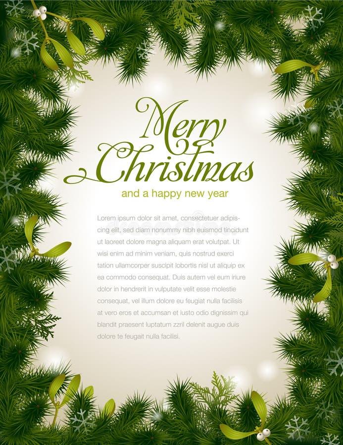 Trame de Noël illustration de vecteur