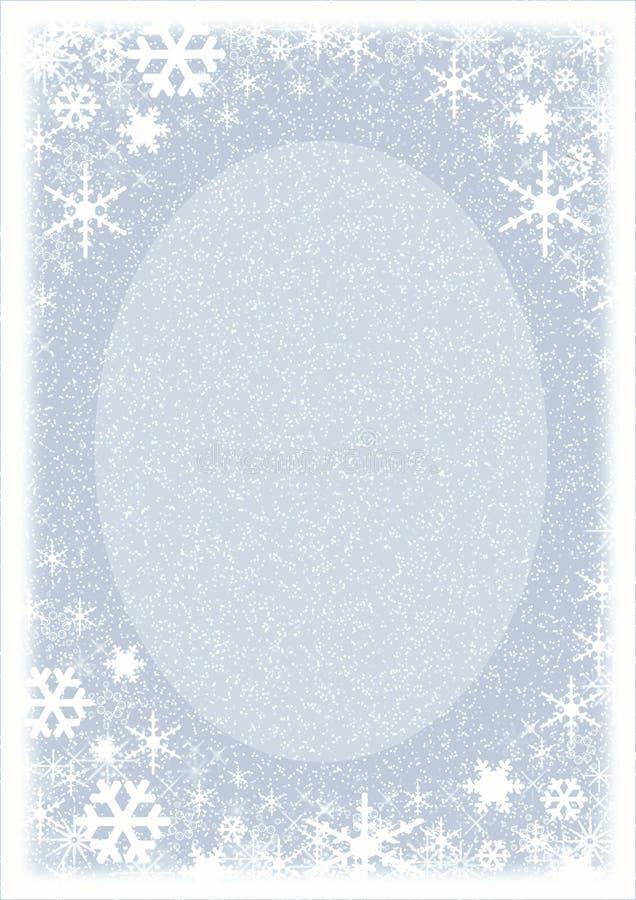 Trame de Noël. Flocons de neige. illustration libre de droits