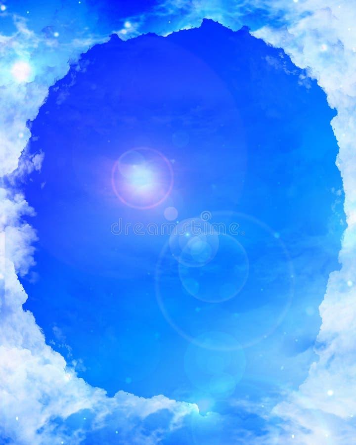 Trame de nuage avec la lumière du soleil illustration de vecteur