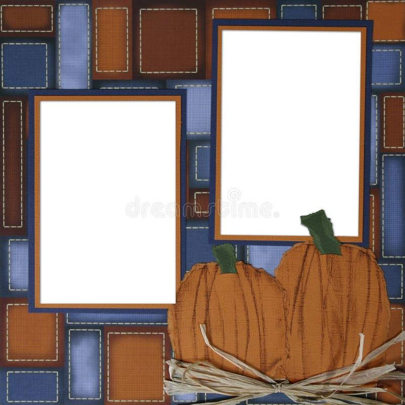 Trame de page d'album à potiron de Veille de la toussaint illustration stock