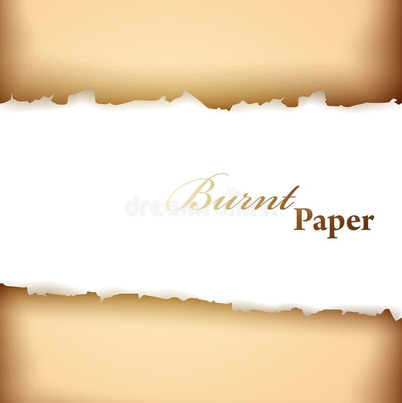 Trame de papier brûlée illustration de vecteur