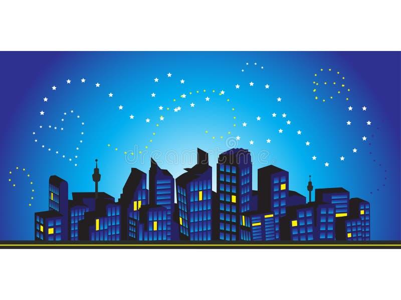 Trame de paysage urbain, silhouettes illustration de vecteur