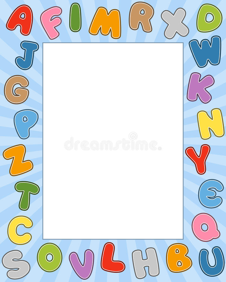 Trame de photo d'alphabet de dessin animé illustration stock