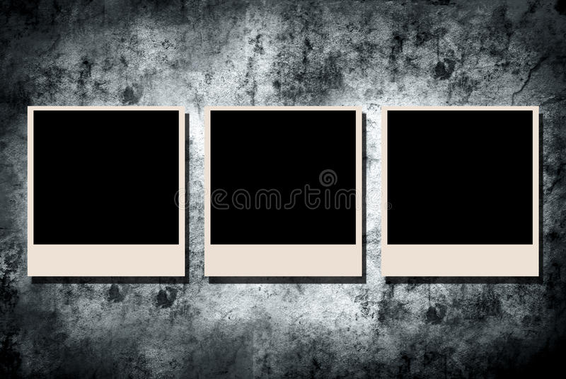 Trame de photo sur le mur grunge illustration stock