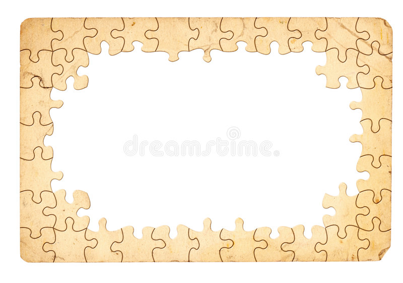 Trame de puzzle illustration stock