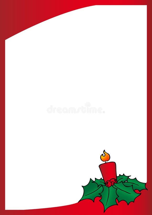 Trame de rouge de Noël illustration stock