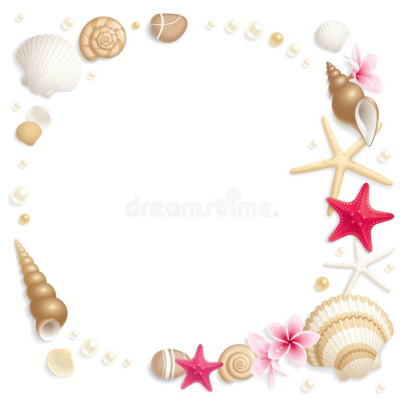 Trame de Seashell illustration stock