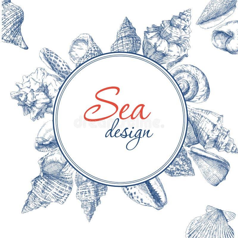 Trame de Seashells illustration de vecteur