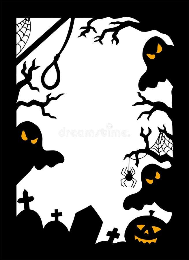 Trame de silhouette de Veille de la toussaint illustration de vecteur