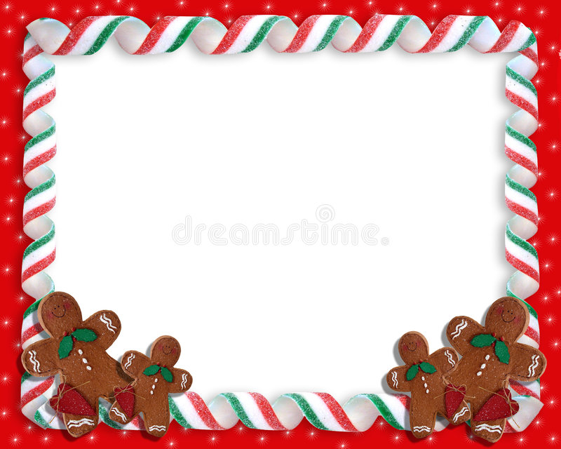 Trame de sucrerie de bande de Noël illustration libre de droits