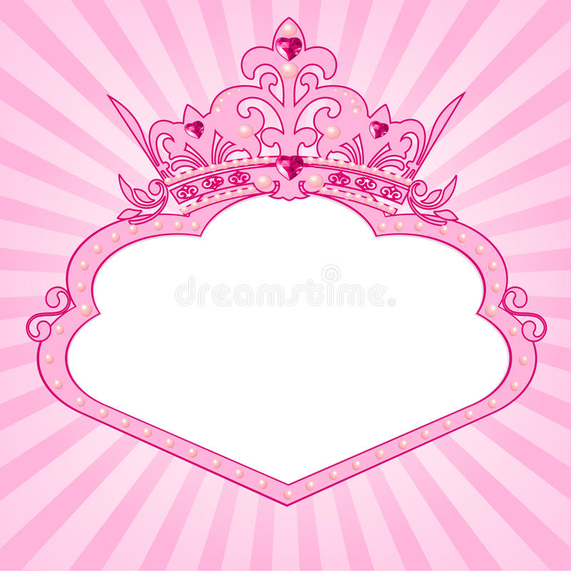 Trame de tête de princesse illustration de vecteur