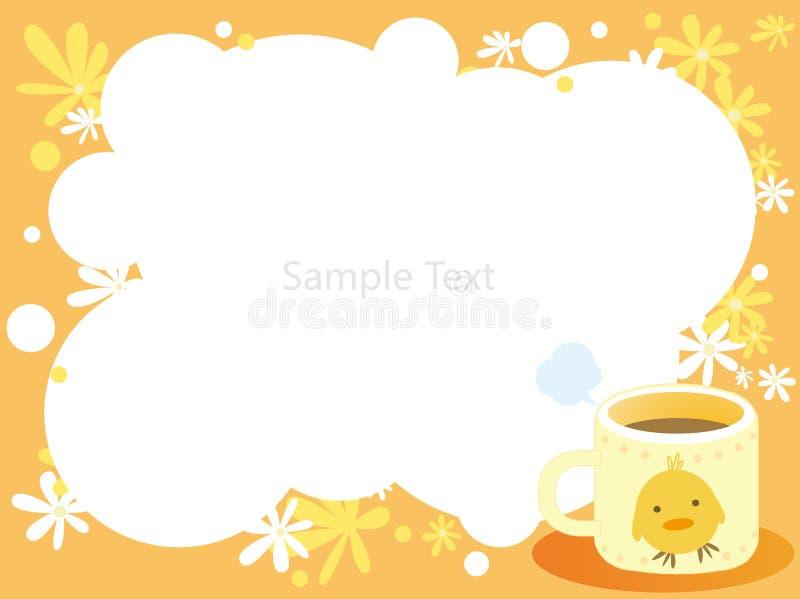 trame de thé et de fleur illustration libre de droits