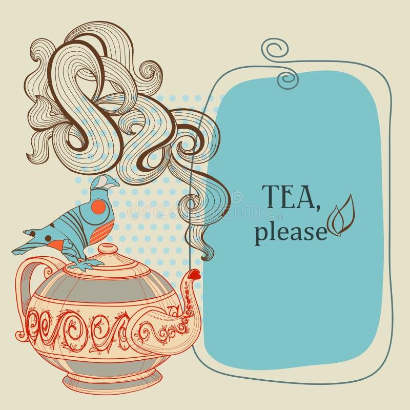 Trame de thé ou de café illustration de vecteur