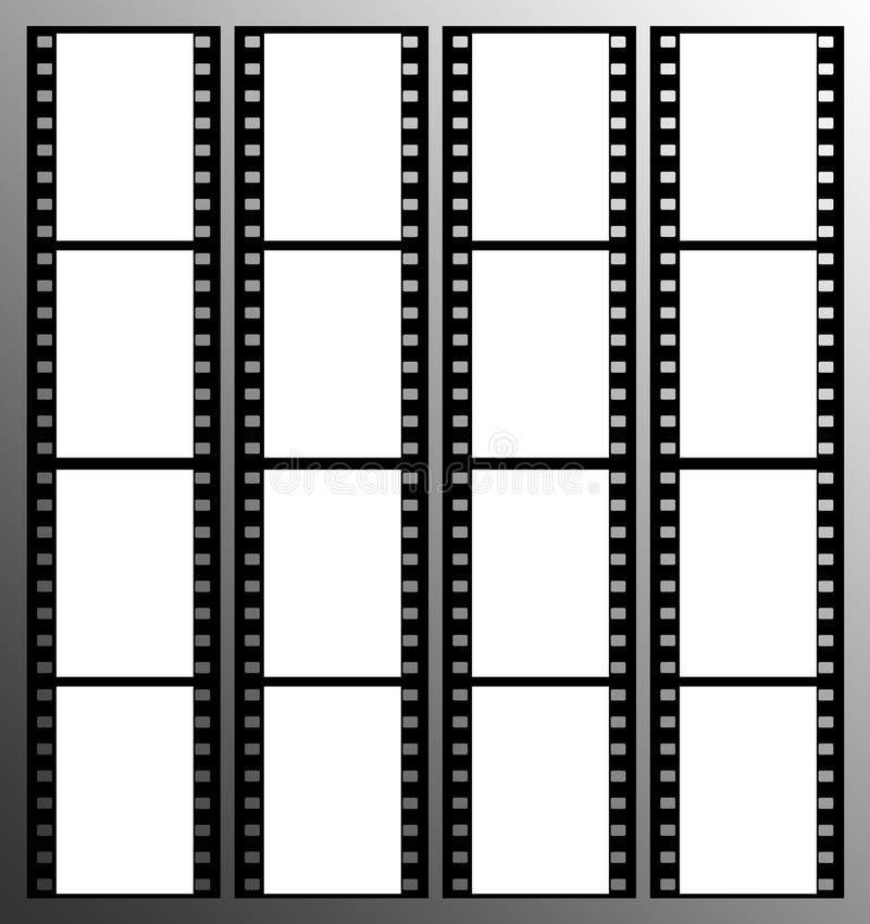 trame de trames de bande de film de 35mm illustration libre de droits