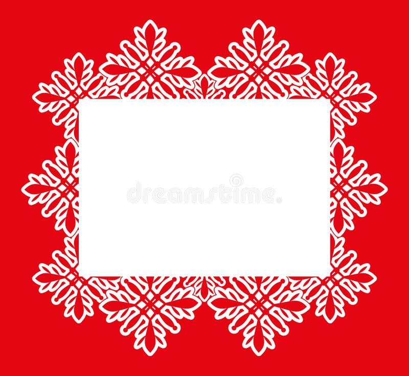 Trame de vecteur Flocons de neige illustration stock