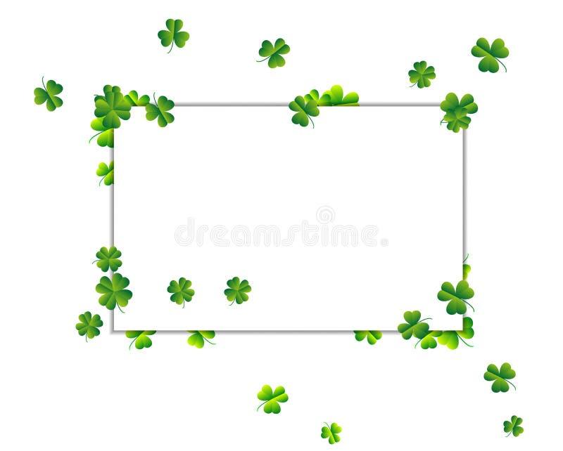 Trame de vecteur Fond abstrait dans le jour du ` s de St Patrick illustration de vecteur