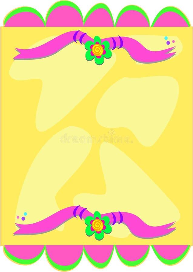 Trame des conceptions lunatiques de drapeau et de fleur illustration stock