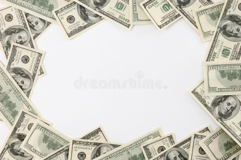 Trame effectuée à partir des billets d'un dollar photo stock