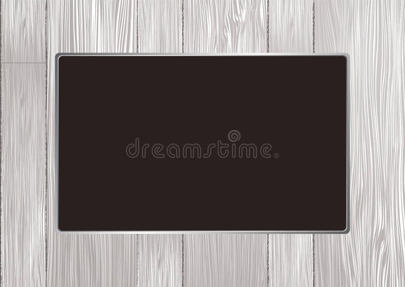 Trame en bois blanche illustration stock