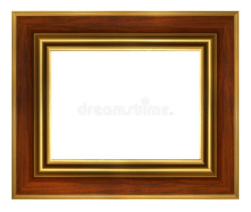 Trame en bois classique d'or photos stock