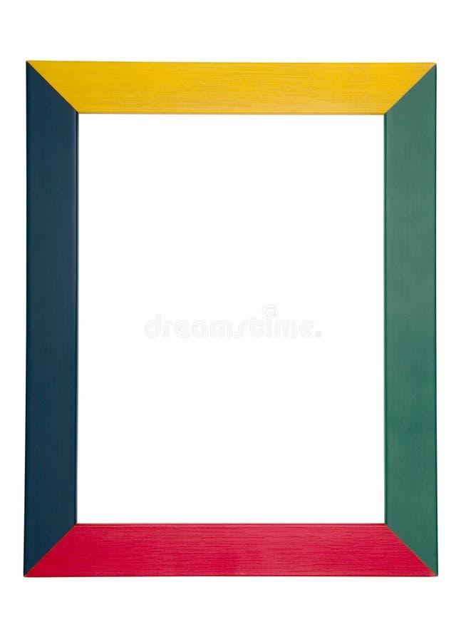 Trame en bois colorée images stock