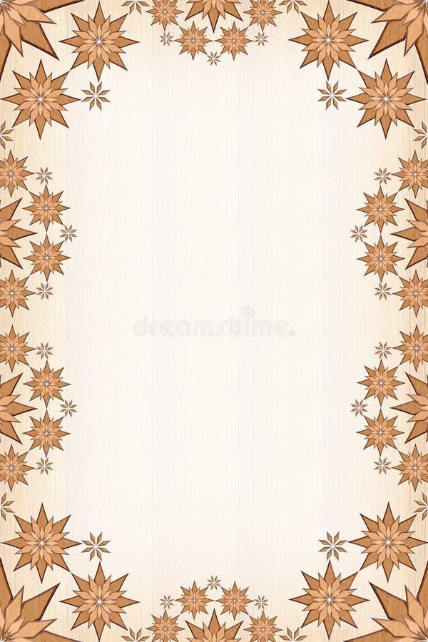Trame en bois d'étoiles illustration de vecteur