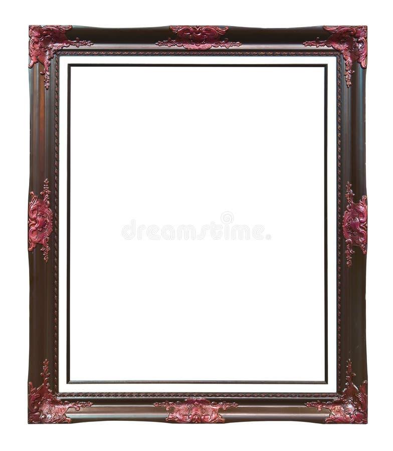 Trame en bois d'image de photo de brun antique de type image libre de droits