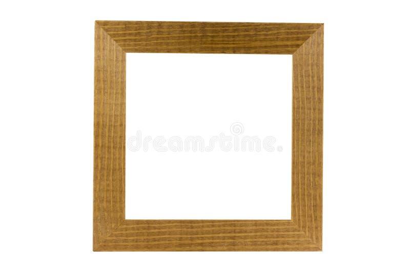 Trame en bois simple d'isolement sur le blanc, chemin de découpage photographie stock