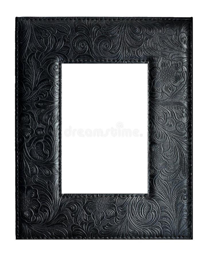 Trame en cuir noire images stock