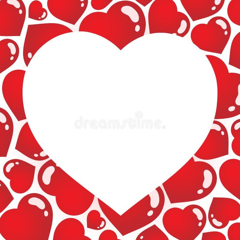 Trame en forme de coeur 1 illustration de vecteur
