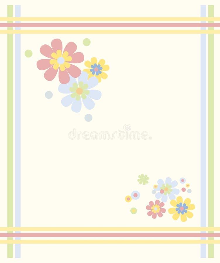 trame En pastel-colorée de fleur illustration stock