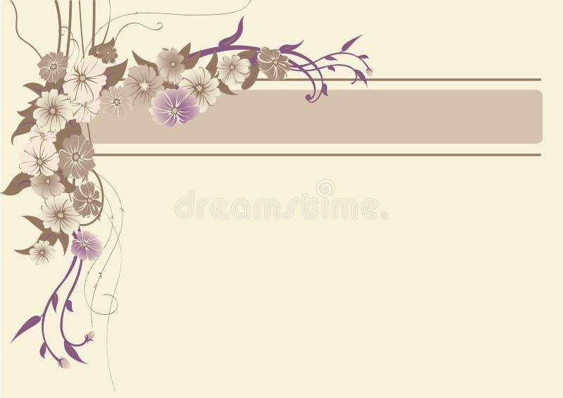 Trame florale illustration de vecteur
