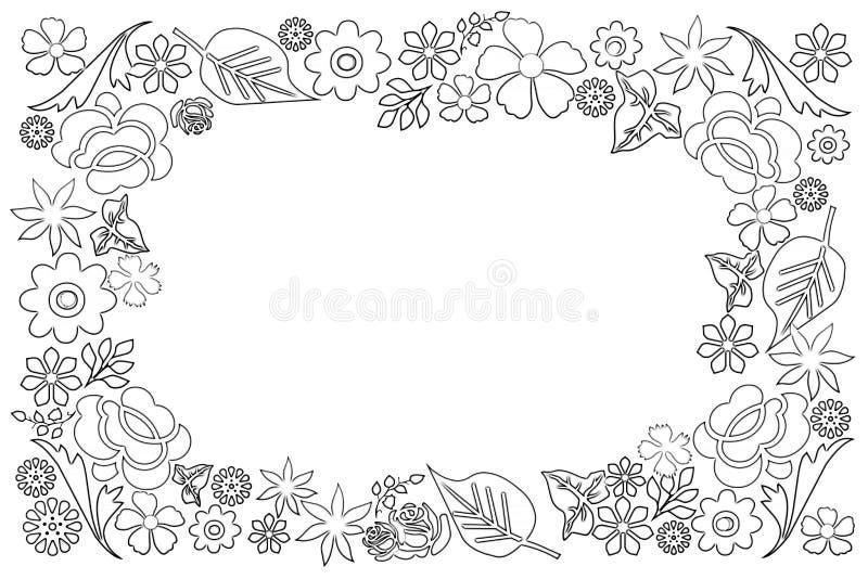 Download Trame florale illustration stock. Illustration du floral - 76080072