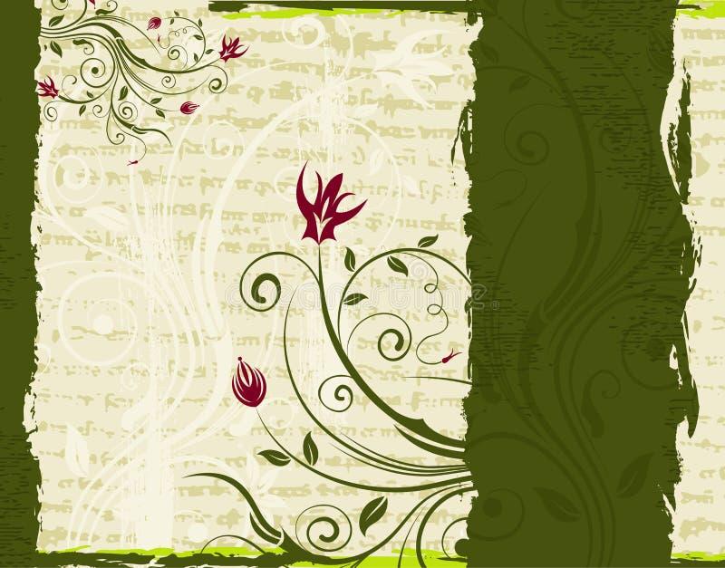 Trame florale abstraite illustration libre de droits