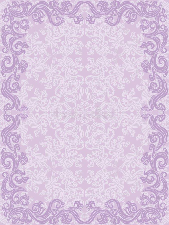 Trame florale décorative illustration de vecteur