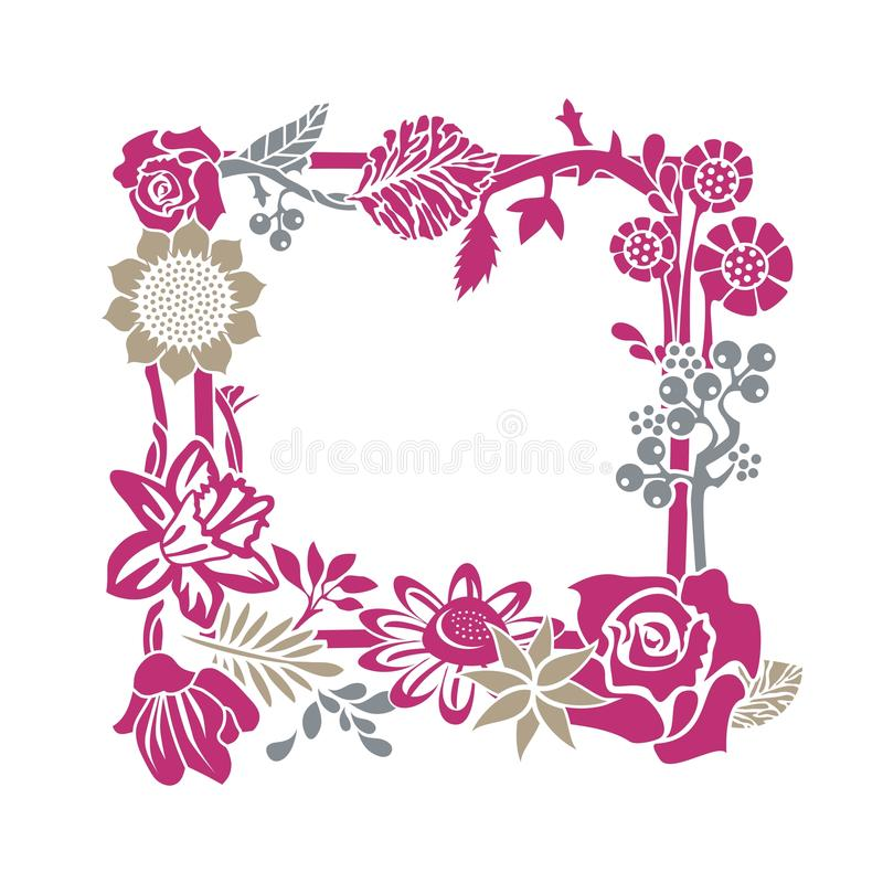 Trame florale décorative illustration stock