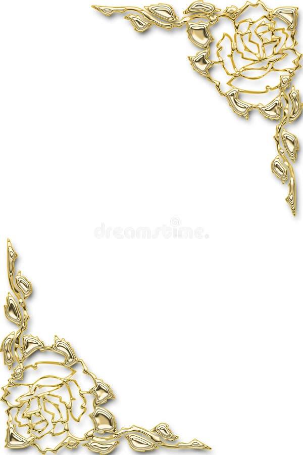 trame florale d'or illustration libre de droits